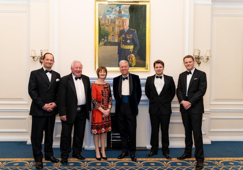 Pictured at the unveiling from L-R RAF Club CEO Miles Pooley, Arts Committee member and former Vice-Chairman Air Cdre Rick Peacock-Edwards, Chairman AM Sue Gray, Club President Sir David Walker, artist Ben Sullivan and Arts Committee member Sqn Ldr James Poynton.